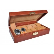 Wrist watch case made of leather. MADE IN ITALY.