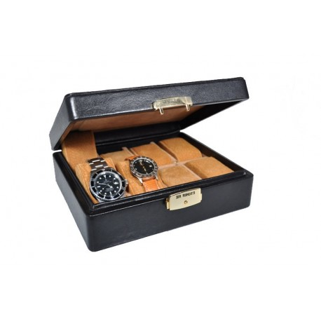Watch case in leather made in Italy