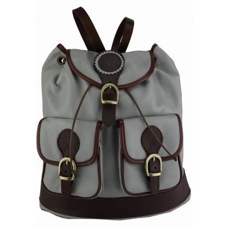 Soft Sauvage leather italian backpack