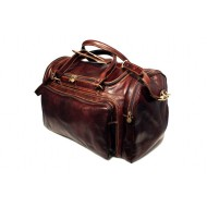 Sport duffel bag in genuine leather