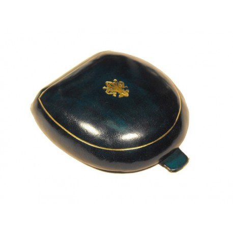Florentine solid leather ancient style coin purse