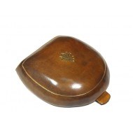 Florentine solid leather ancient style tan coin purse